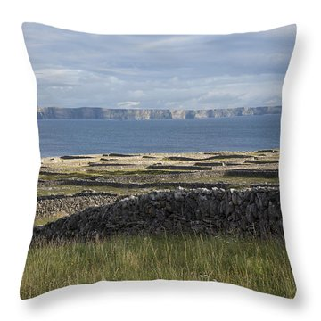 Cliffs Of Moher From Inisheer Throw Pillow
