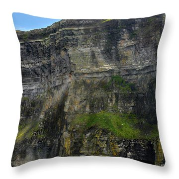Throw Pillow featuring the photograph Cliffs Of Moher From The Sea Close Up by RicardMN Photography