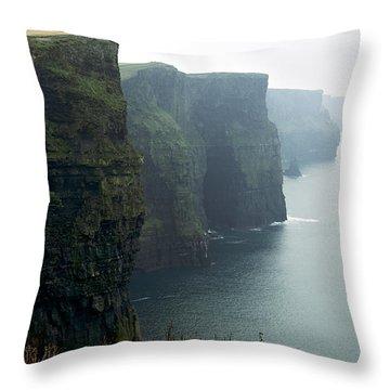 Cliffs Of Moher Throw Pillow