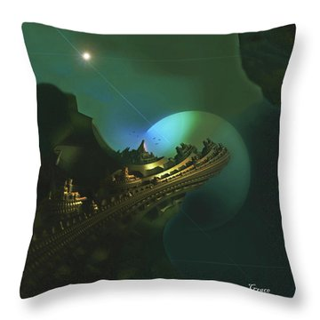 Cliffs Of Tarsa Throw Pillow by Julie Grace