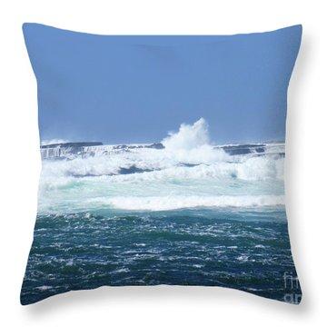 Cliffs Of The Aran Islands 2 Throw Pillow