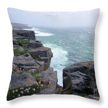 Cliffs Of The Aran Islands 4 Throw Pillow