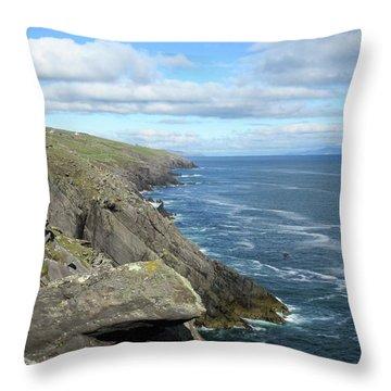 Cliffs Of The Aran Islands Throw Pillow