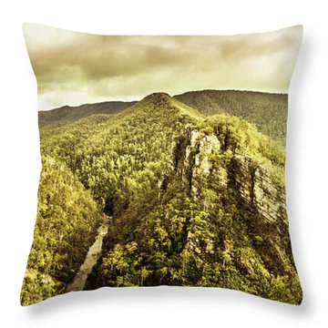 Cliffs, Steams And Valleys Throw Pillow