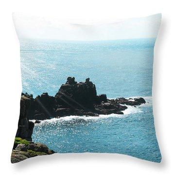 Cliffs Throw Pillow by Svetlana Sewell