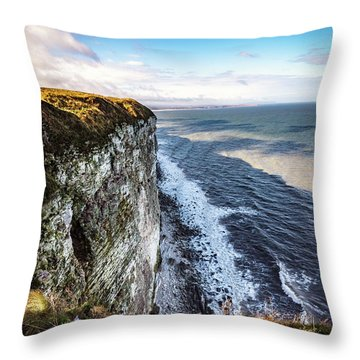 Throw Pillow featuring the photograph Cliffside View by Anthony Baatz