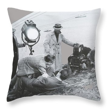 Clifton Young And Bogie Fight To The Death Dark Passage 1947-2016 Throw Pillow