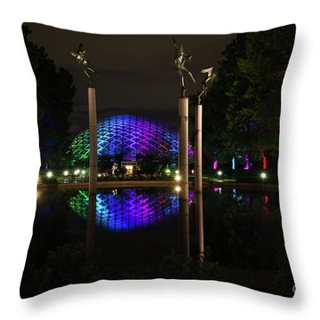 Throw Pillow featuring the photograph Climatron 2017 by Andrea Silies