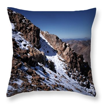 Throw Pillow featuring the photograph Climb That Mountain by Jim Hill