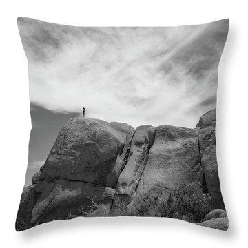 Climbing To The Top Bw Throw Pillow