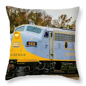 Clinchfield No 800 Throw Pillow