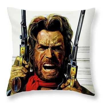 Clint Eastwood As Josey Wales Throw Pillow