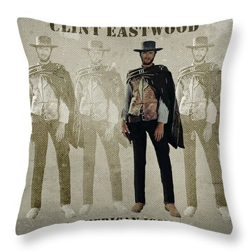 Clint Eastwood - American Icon Throw Pillow