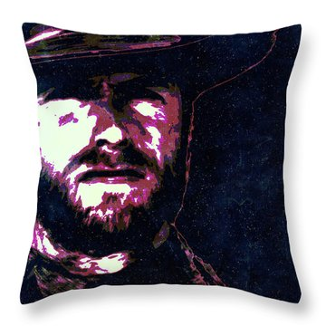 Clint Eastwood Portrait Poster Retro Print Wall Decor Throw Pillow