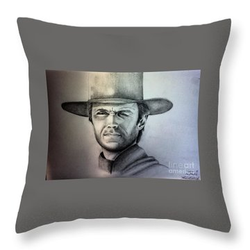 Clint Eastwood Portrait  Throw Pillow