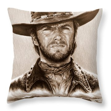 Clint Eastwood The Stranger Throw Pillow