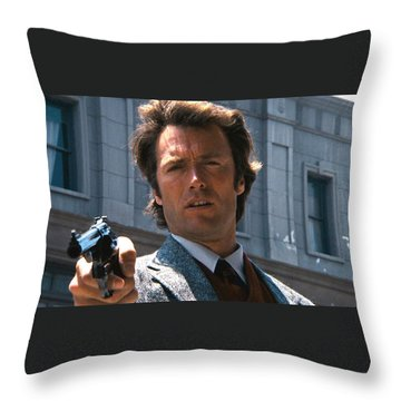 Clint Eastwood With 44 Magnum Dirty Harry 1971 Throw Pillow