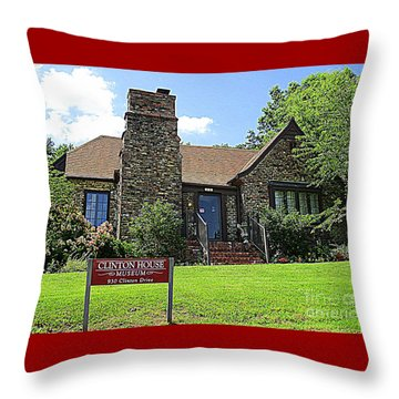 Clinton House Museum 1 Throw Pillow by Randall Weidner