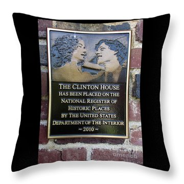 Clinton House Museum 2 Throw Pillow by Randall Weidner
