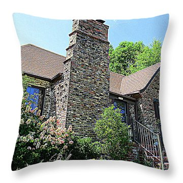 Clinton House Museum 3 Throw Pillow by Randall Weidner
