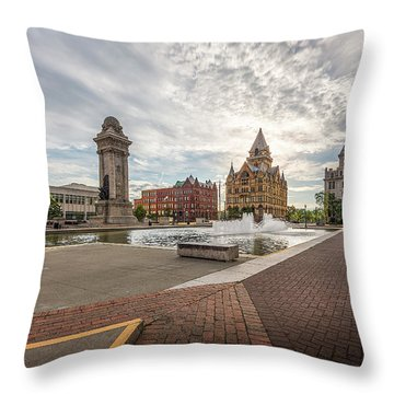 Throw Pillow featuring the photograph Clinton Square by Everet Regal