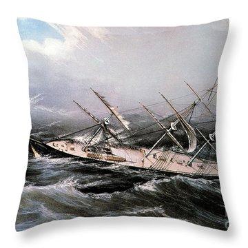 Clipper Ship Comet, 1855 Throw Pillow