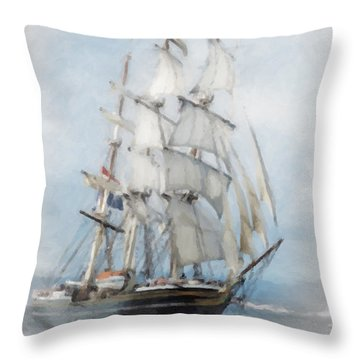 Clipper Ship In Sail Throw Pillow