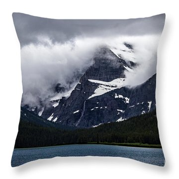 Cloaked In Storm Throw Pillow