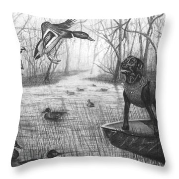 Cloaked Throw Pillow by Peter Piatt