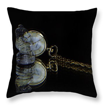 Clock-chess  Throw Pillow