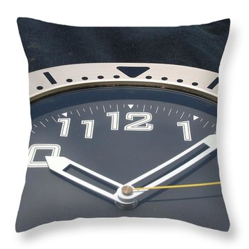 Throw Pillow featuring the photograph Clock Face by Rob Hans