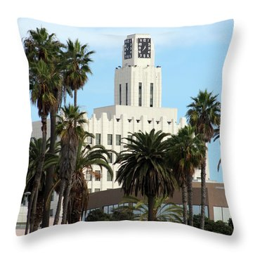 Clock Tower Building, Santa Monica Throw Pillow