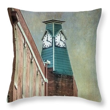 Clock Tower Downtown Statesville North Carolina Throw Pillow