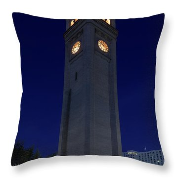 Clock Tower Spokane W A Throw Pillow