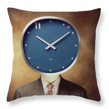 Clockhead Throw Pillow