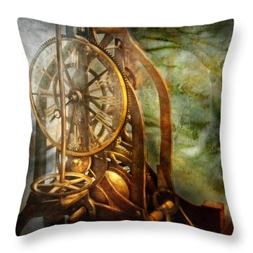 Clockmaker - The Day Time Stood Still  Throw Pillow by Mike Savad