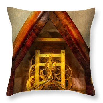Clocksmith - Clockwork  Throw Pillow by Mike Savad