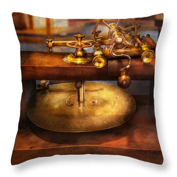Clocksmith - The Gear Cutting Machine  Throw Pillow by Mike Savad