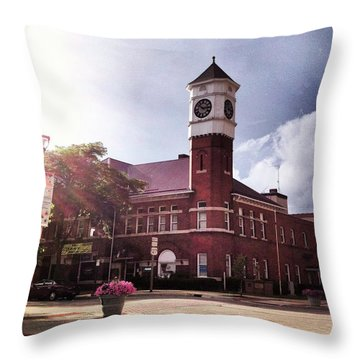 Clocktower Sunshine Throw Pillow