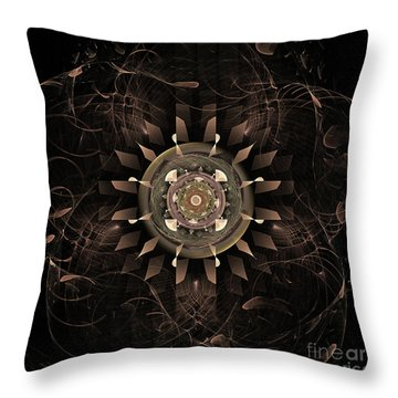 Clockwork Throw Pillow by John Edwards