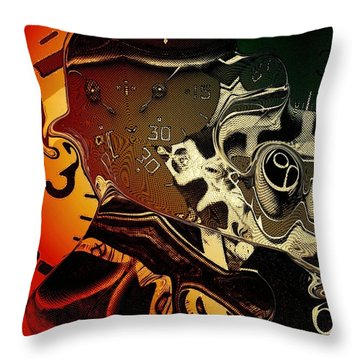 Clockwork Throw Pillow