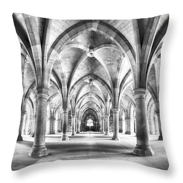 Cloister Black And White Panorama Throw Pillow