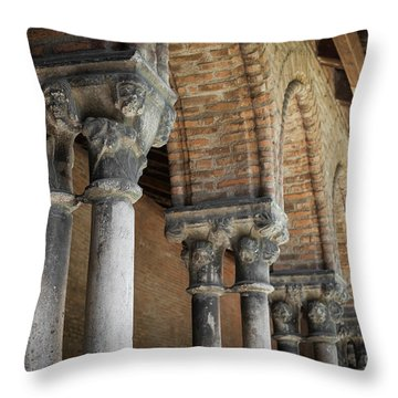 Throw Pillow featuring the photograph Cloister Columns, Couvent Des Jacobins by Elena Elisseeva