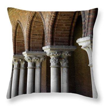Cloister, Couvent Des Jacobins Throw Pillow