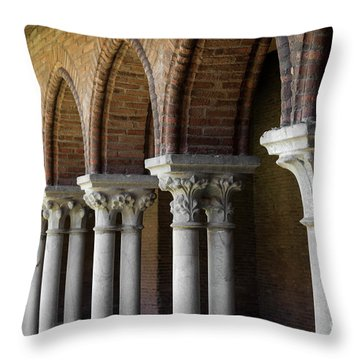 Throw Pillow featuring the photograph Cloister, Couvent Des Jacobins by Elena Elisseeva