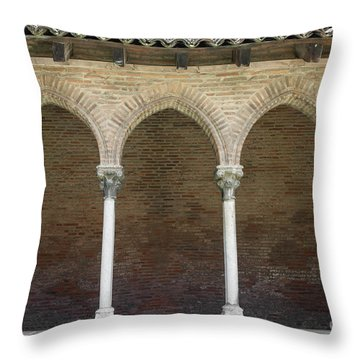 Throw Pillow featuring the photograph Cloister In Couvent Des Jacobins by Elena Elisseeva