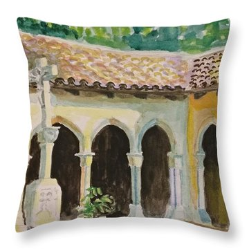 Cloister, Nyc Throw Pillow