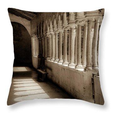 Cloister Of San Zeno Throw Pillow