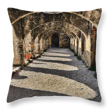Cloistered - Mission San Jose Throw Pillow