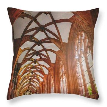 Cloisters Of Basel Munster Switzerland  Throw Pillow